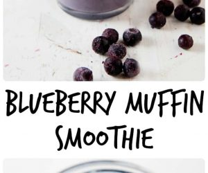 Blueberry Muffin Smoothie from LauraFuentes.com