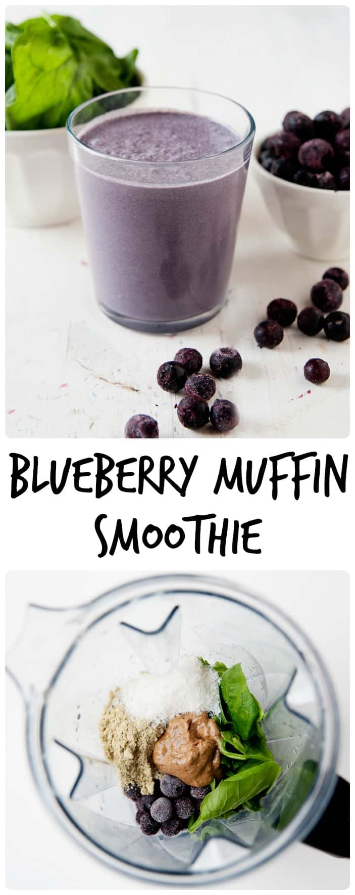 What if I told you I can make spinach taste like dessert? You are not going to believe me until you try this blueberry muffin green smoothie recipe!
