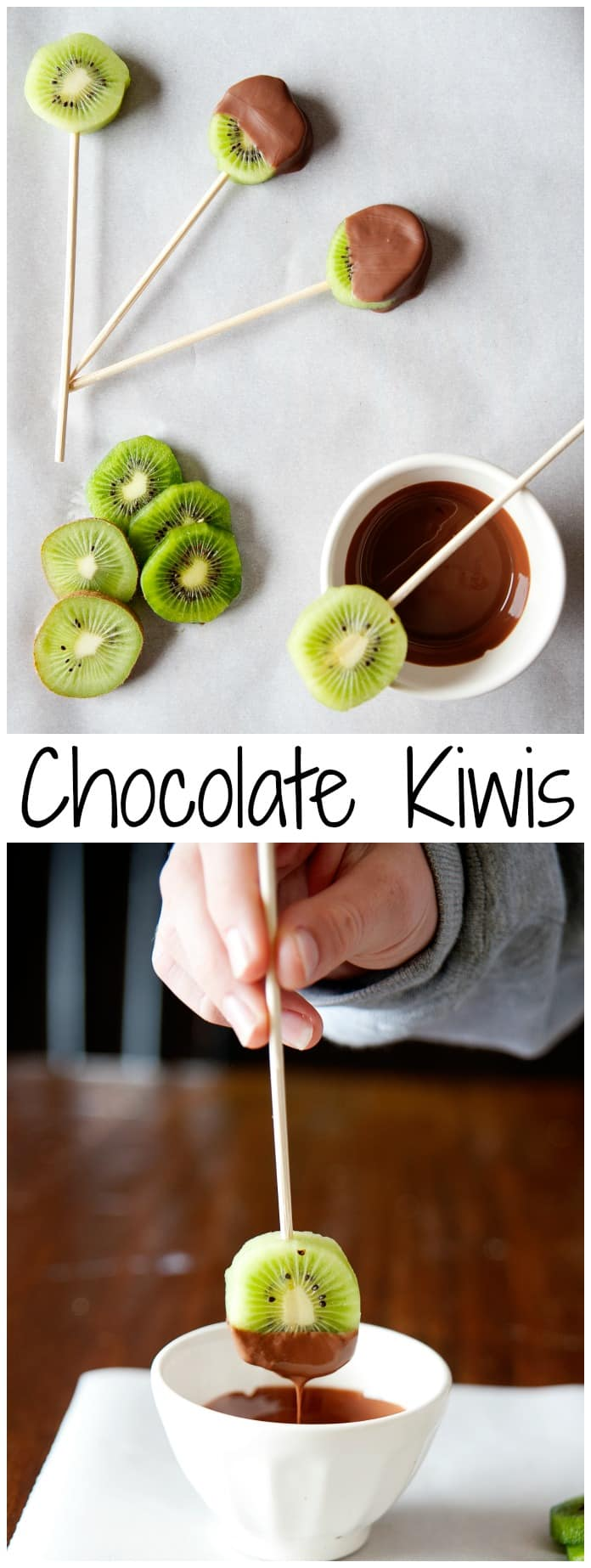 These chocolate covered kiwi pops are easy and fun to make and delicious to enjoy!