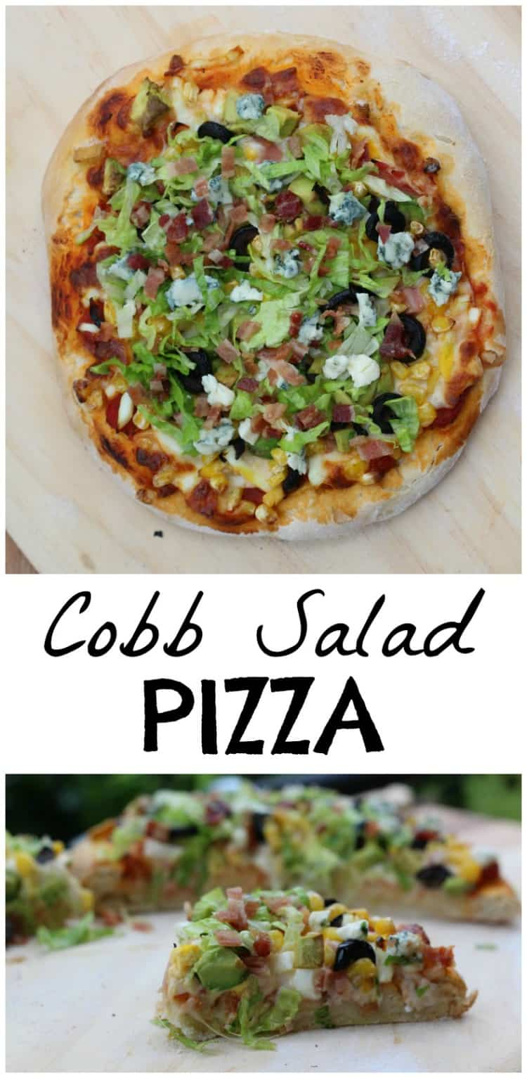 This Cobb Salad Pizza Recipe is over the top! Swoon your guests or rock your own pizza night. The dough is perfect.