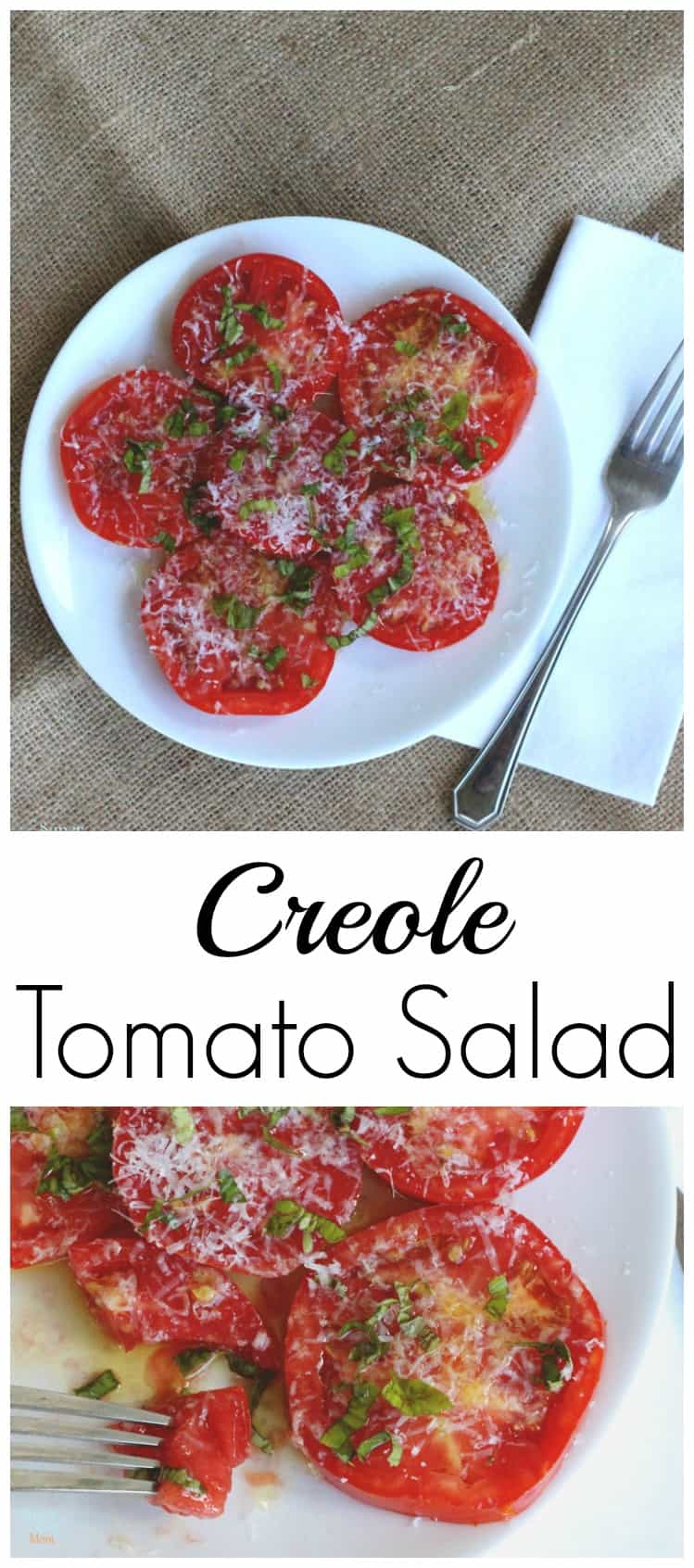 This creole tomato salad is the perfect appetizer or meal for one! Bring on the love for fresh food!