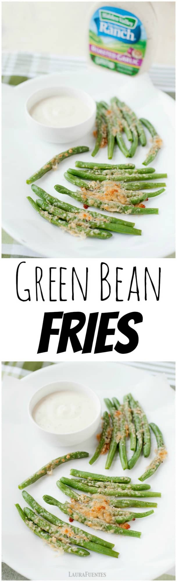 These parmesan green bean fries come together in 20 minutes and they are baked, not fried!
