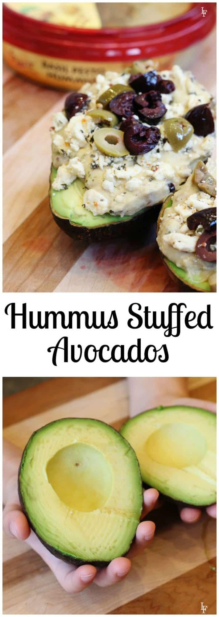 Need a little variety for lunch? Try these hummus stuffed avocados! You are going to love them.