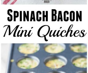 Spinach Bacon Mini Quiches from LauraFuentes.com