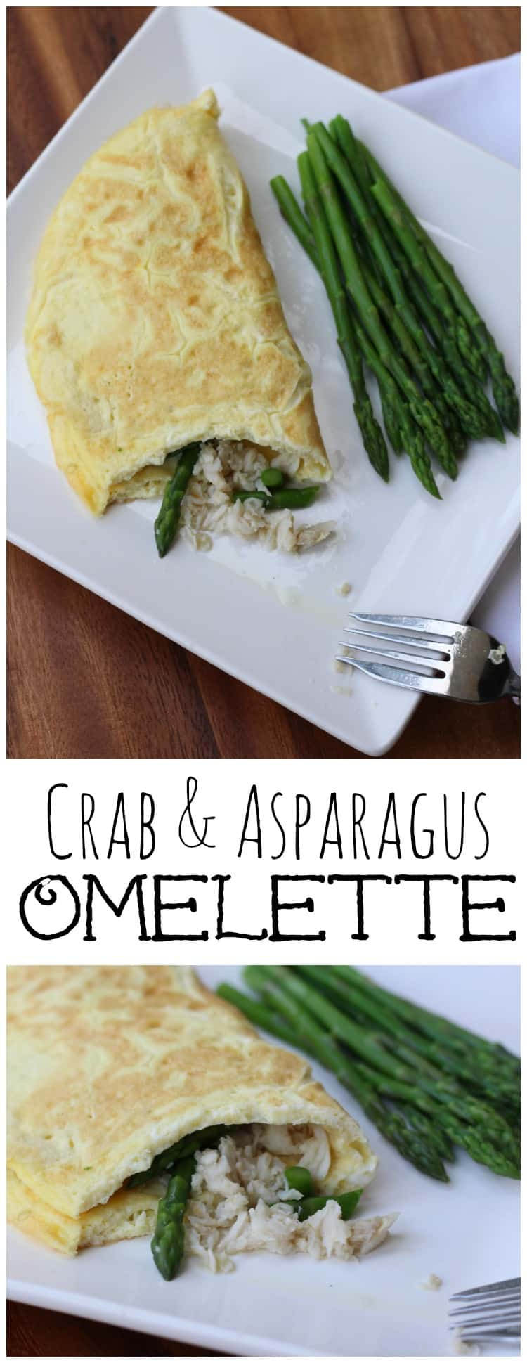 This fluffily crab and asparagus omelette is delicious! The original version is from Luke's Restaurant in New Orleans.