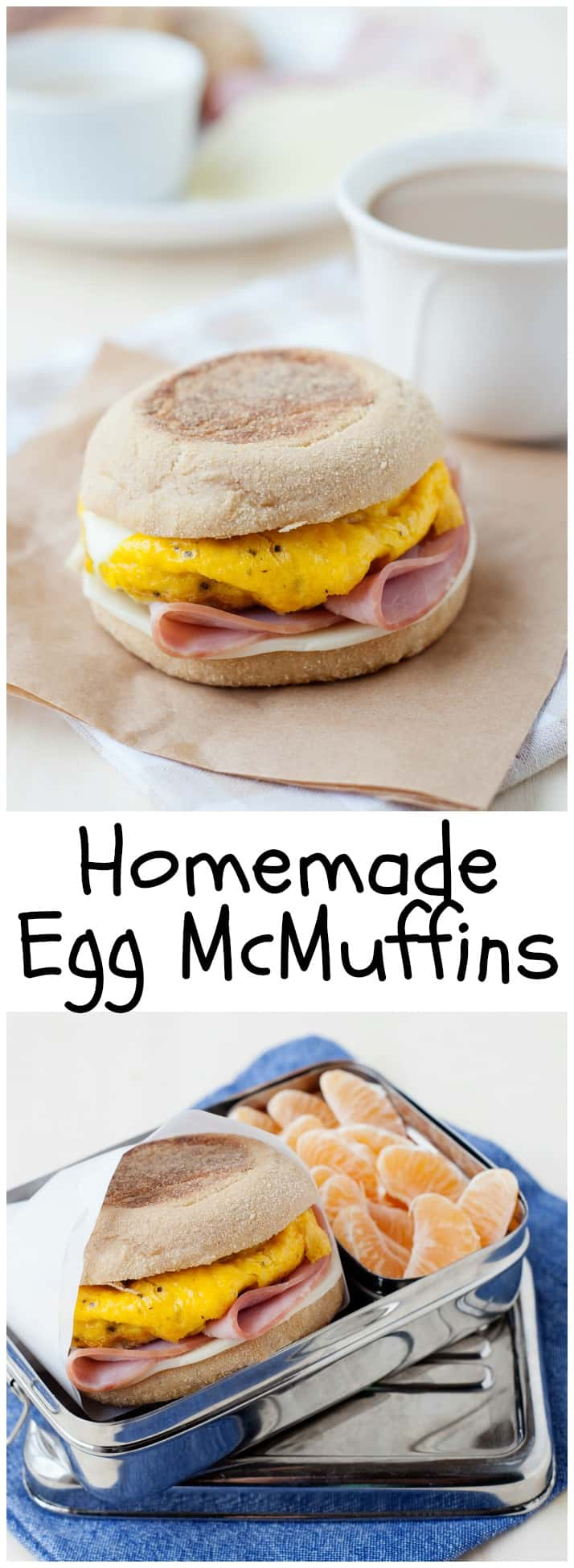 These homemade English Muffin Breakfast Sandwiches are a breeze to make and can be frozen for a quick portable breakfast! How-to video included.