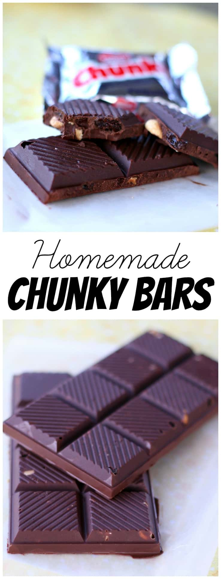 These homemade Chunky Bars are delicious with this super easy recipe! The perfect mix of sweet and salty in a candy bar!