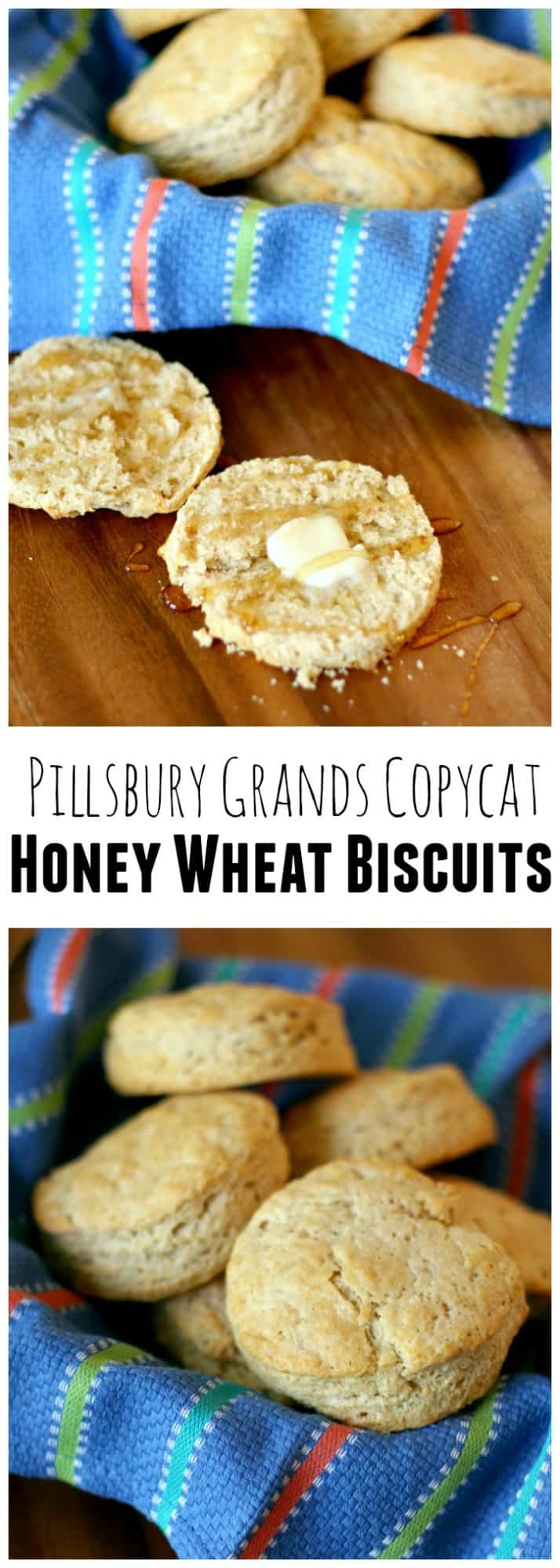 You'll never want to buy the blue tube again. Whip up this Grands copycat recipe in a matter of minutes and enjoy some delicious honey wheat biscuits.