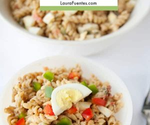 All the Cajun flavor with this easy jambalaya pasta salad recipe or Pastalaya as I like to call it!
