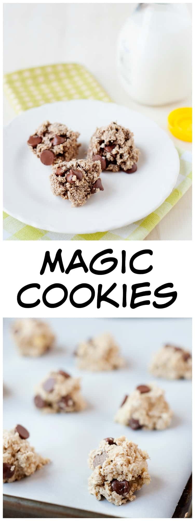 A 2 Ingredient Cookie Recipe? Yes! These are magic cookies! Perfectly portioned and easy to make.