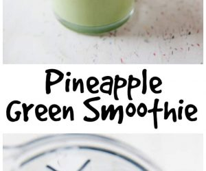 Pineapple Green Smoothie from LauraFuentes.com