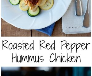 Roasted Red Pepper Hummus Chicken from LauraFuentes.com