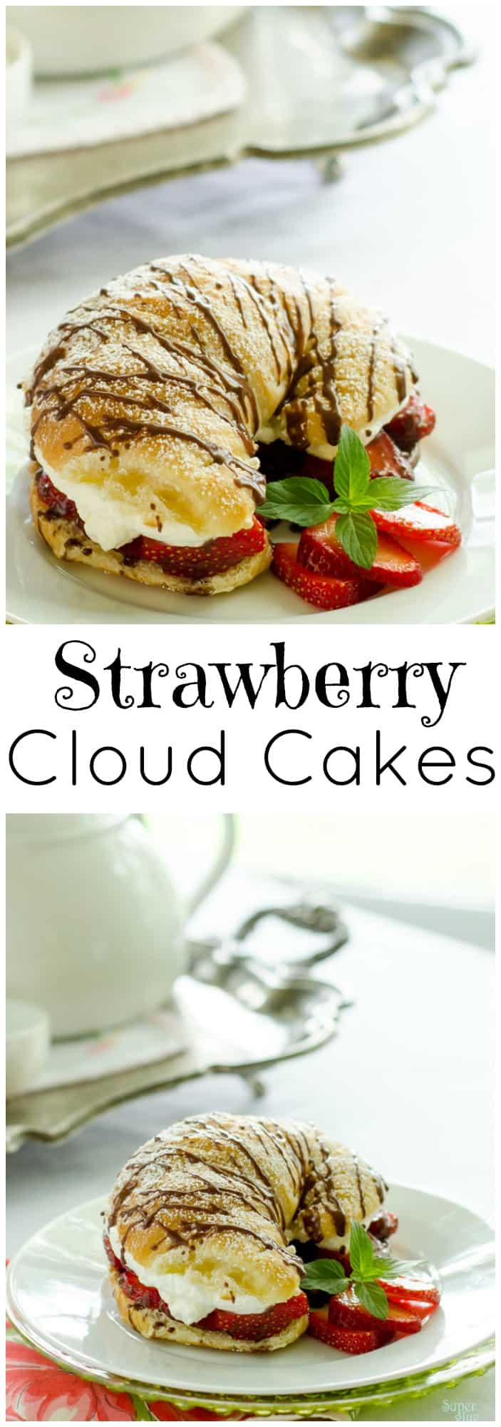 These Strawberry Cloud Cakes recipe is simple, delicious and French-bakery worthy! Be prepared to indulge.