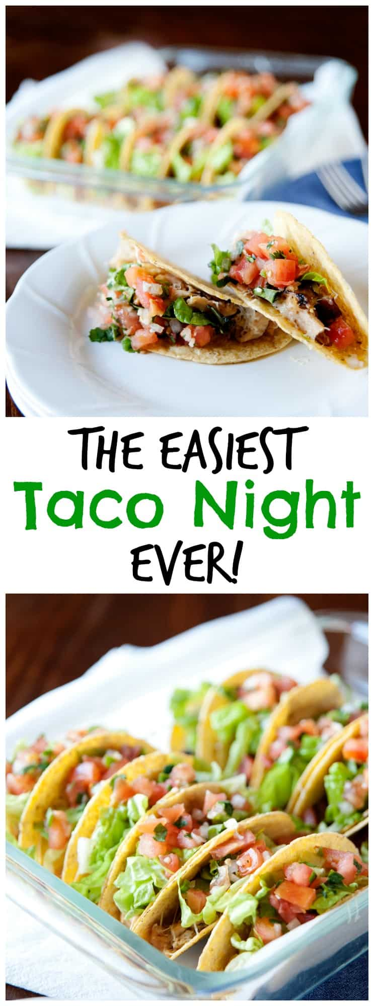 Tired of eating cold tacos? This easy taco night recipe allows you to be the last one at the table and enjoy a warm dinner - for once!