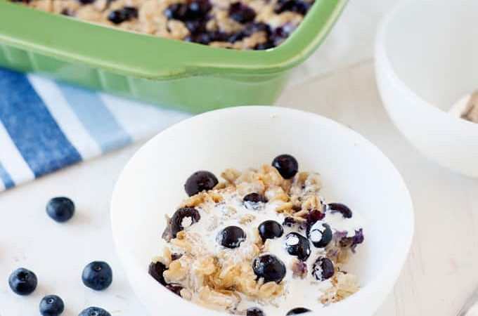 Healthy Breakfast: Blueberry Baked Oatmeal