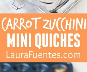 I love these carrot zucchini mini quiches for healthy lunchboxes and snack bites!
