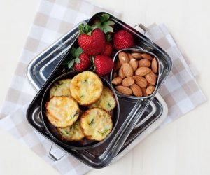 easy vegetarian carrot and zucchini bites that are perfect for a healthy school and office lunch!