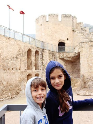 sofia and alex in a spanish castle in spain