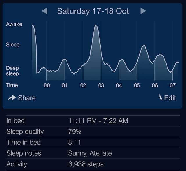 sleep cycle tracking app example