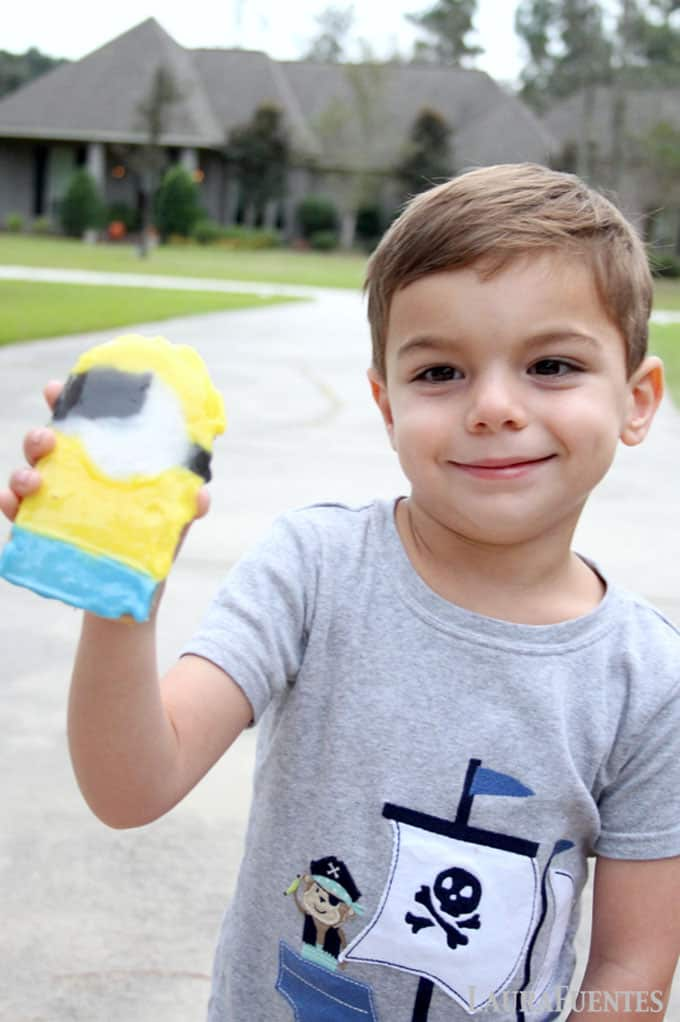 gabriel with a minion cookie