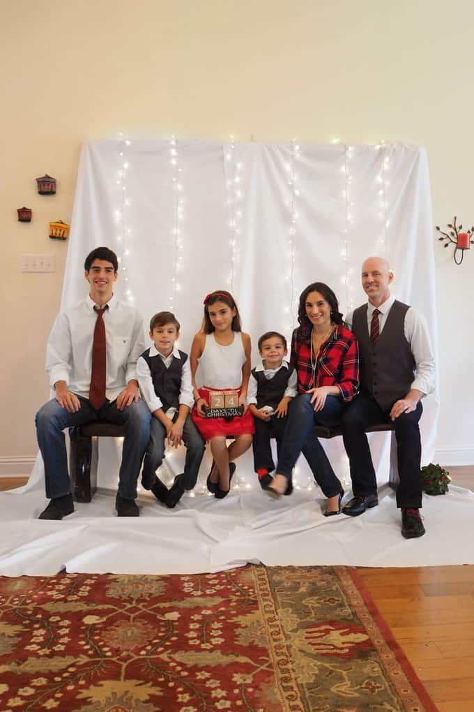 DIY holiday cards for the family how to turn your living room into a photo studio