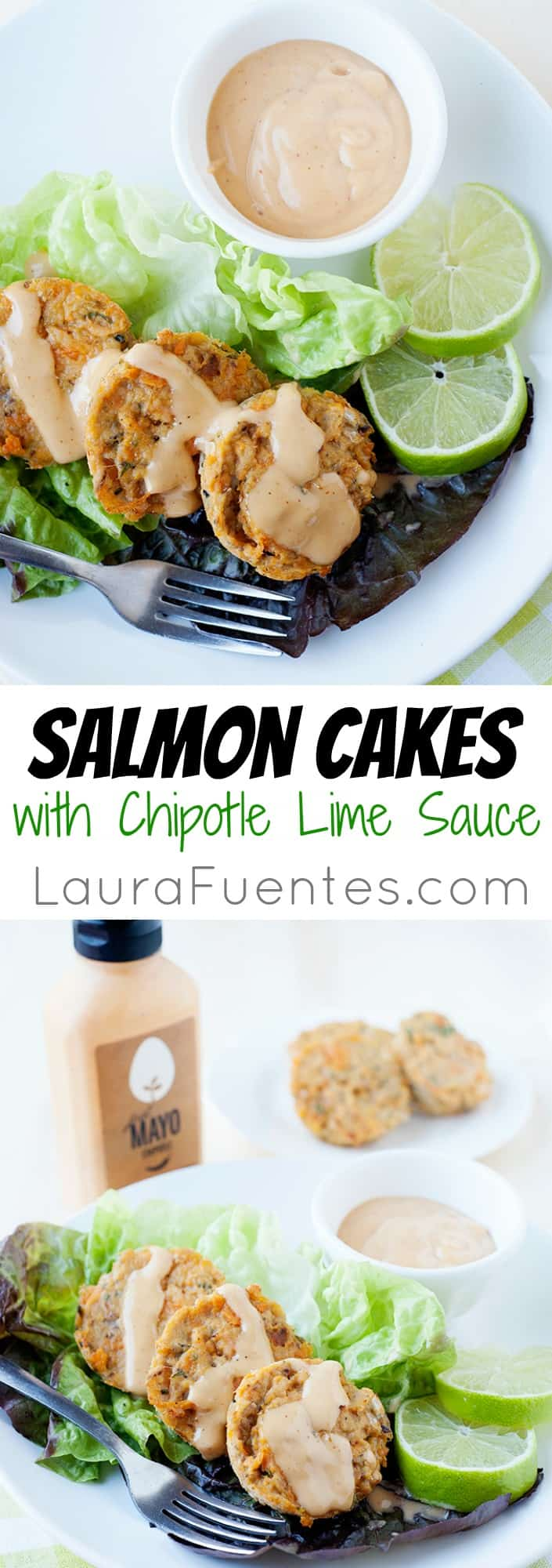 Mouth-watering easy salmon cakes with chipotle lime sauce are the perfect meal when the family is craving crab cakes!