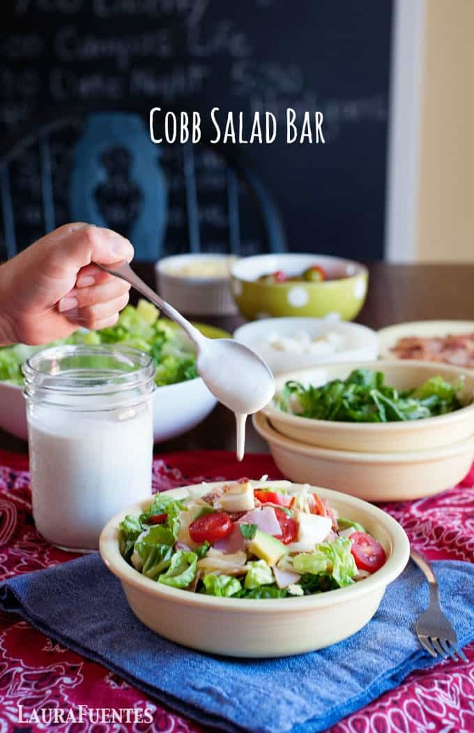 this Cobb Salad Bar is a healthy dinner idea that even picky eaters will love