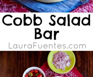 Even the pickiest of eaters will find something to eat in this Cobb Salad Bar idea!