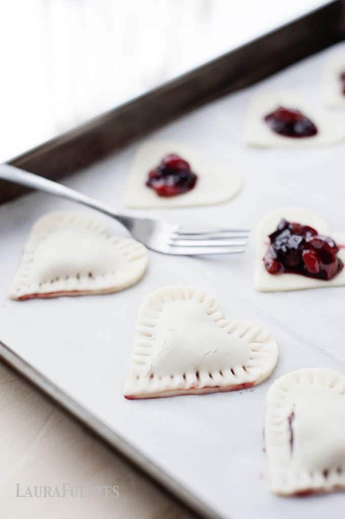 Cherry Hand Pies- Valentine's Day snack to make with your kids. It's ...