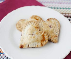Cherry Hand Pies- Valentine's Day snack to make with your kids. It's an easy and fun non-candy treat they are sure to love!