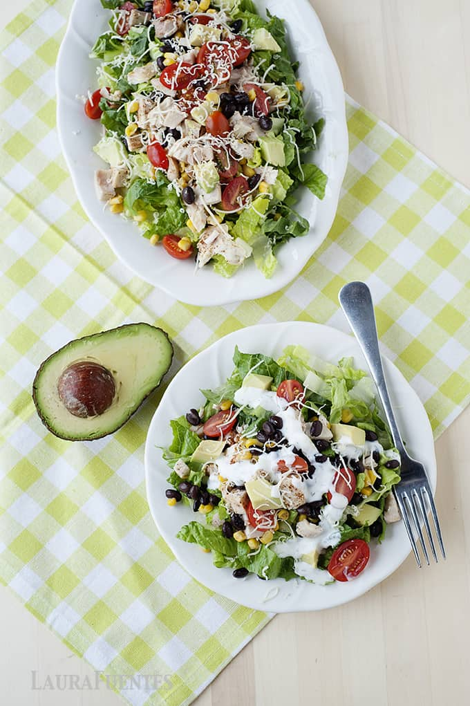 Santa Fe Chicken Salad - Healthy meal options for a healthy new year!