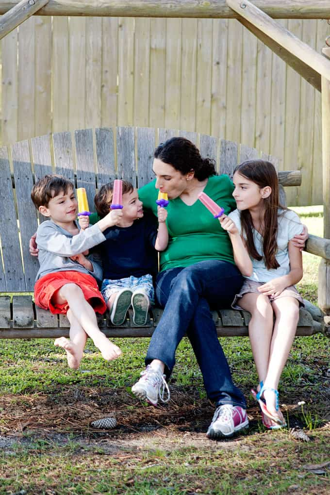 happier mom spending time with kids