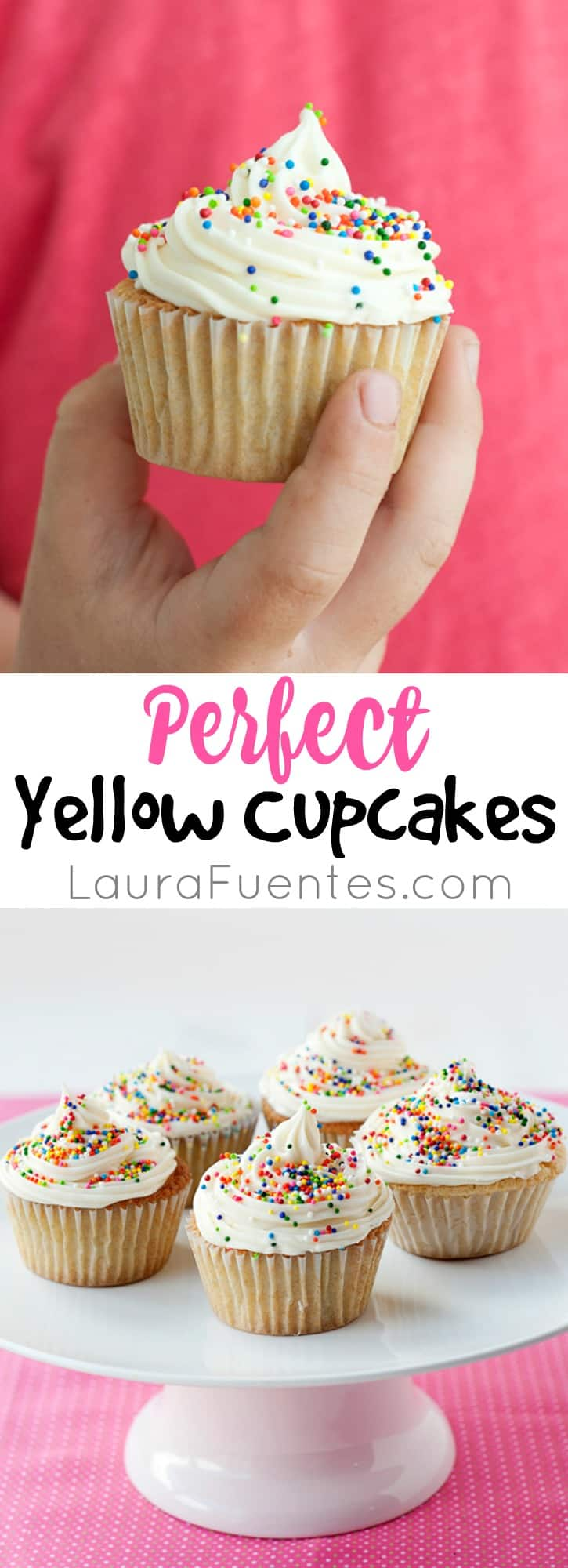 Perfect Yellow Cupcakes - Easy to make cupcakes that come out perfect every time! Recipe includes gluten free option.