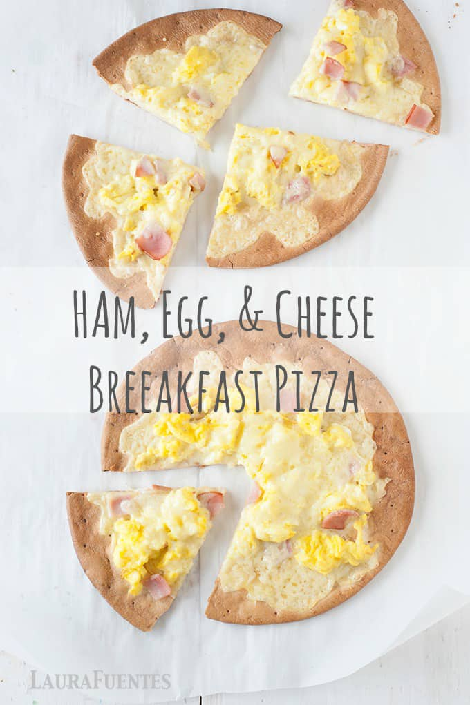 Need a fun breakfast idea? These Ham, Egg, & Cheese Breakfast Pizzas are delicious and can be made gluten free!