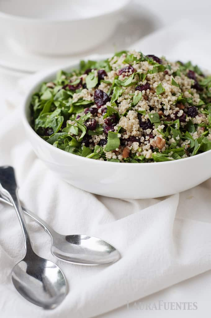 Cranberry Quinoa Salad- Naturally gluten free, this makes the perfect side dish for any dinner or a great lunch at the office.