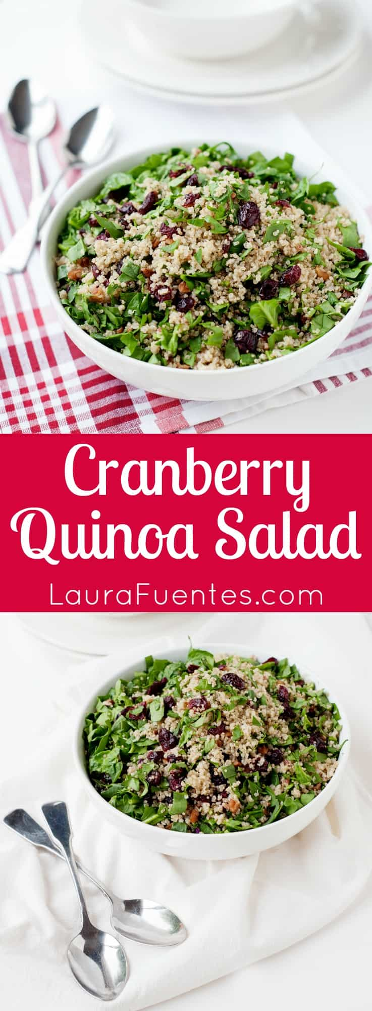 Cranberry Quinoa Salad - Naturally gluten free, this makes the perfect side dish for any dinner or a great lunch at the office.