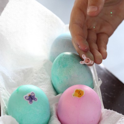 Dyeing Easter Eggs with My Kids