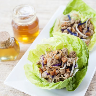 Honey Chicken Lettuce Cups