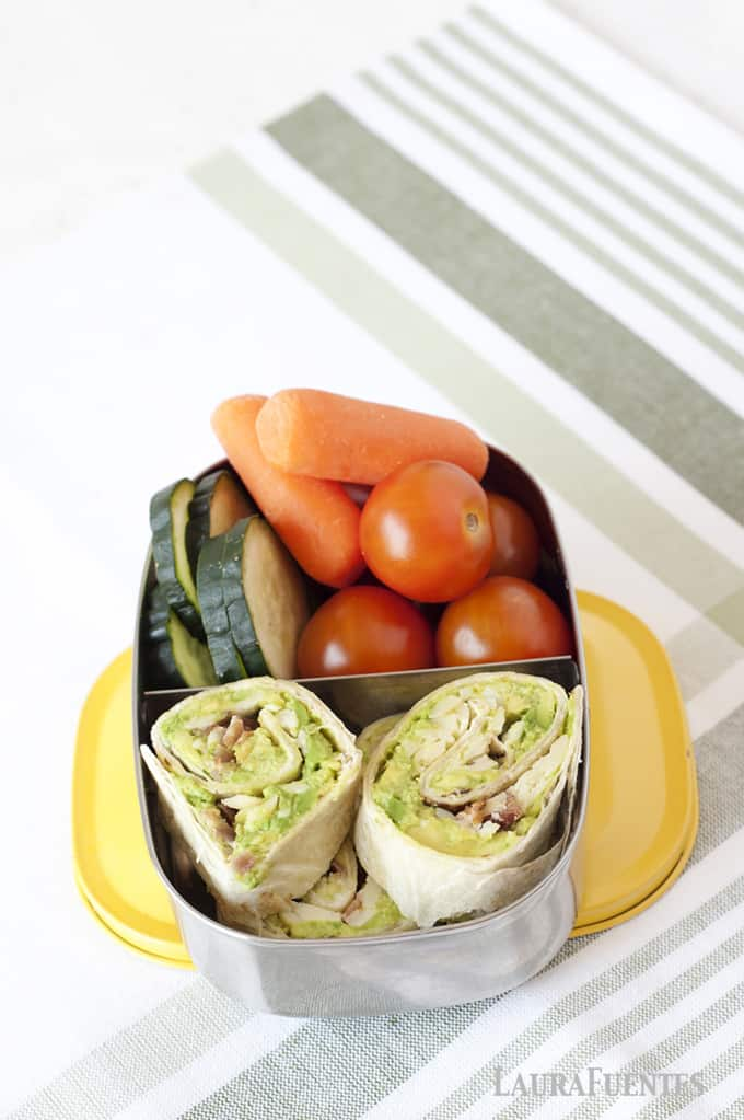 Avocado, Bacon and Cheese Pinwheels