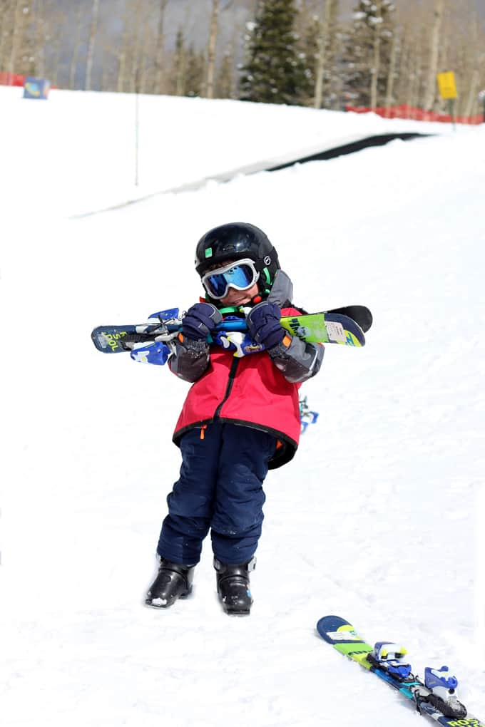 G with his ski gear