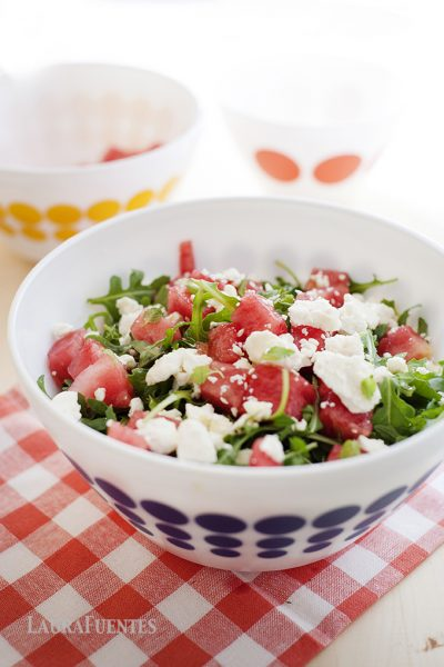 Fresh Watermelon Feta & Mint Salad
