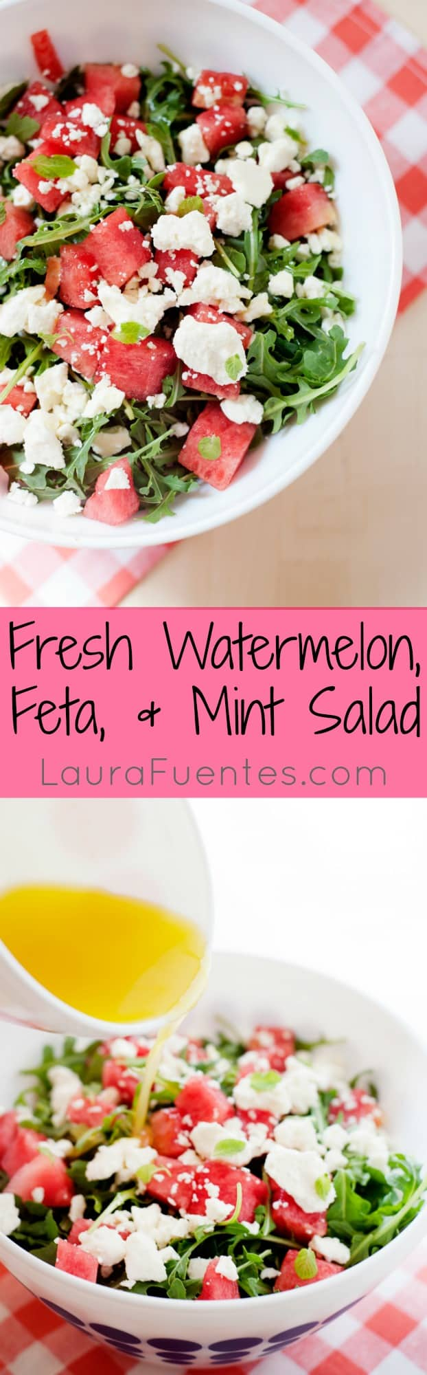 Watermelon Feta Salad - A cool, refreshing salad that's perfect for summer cookouts!