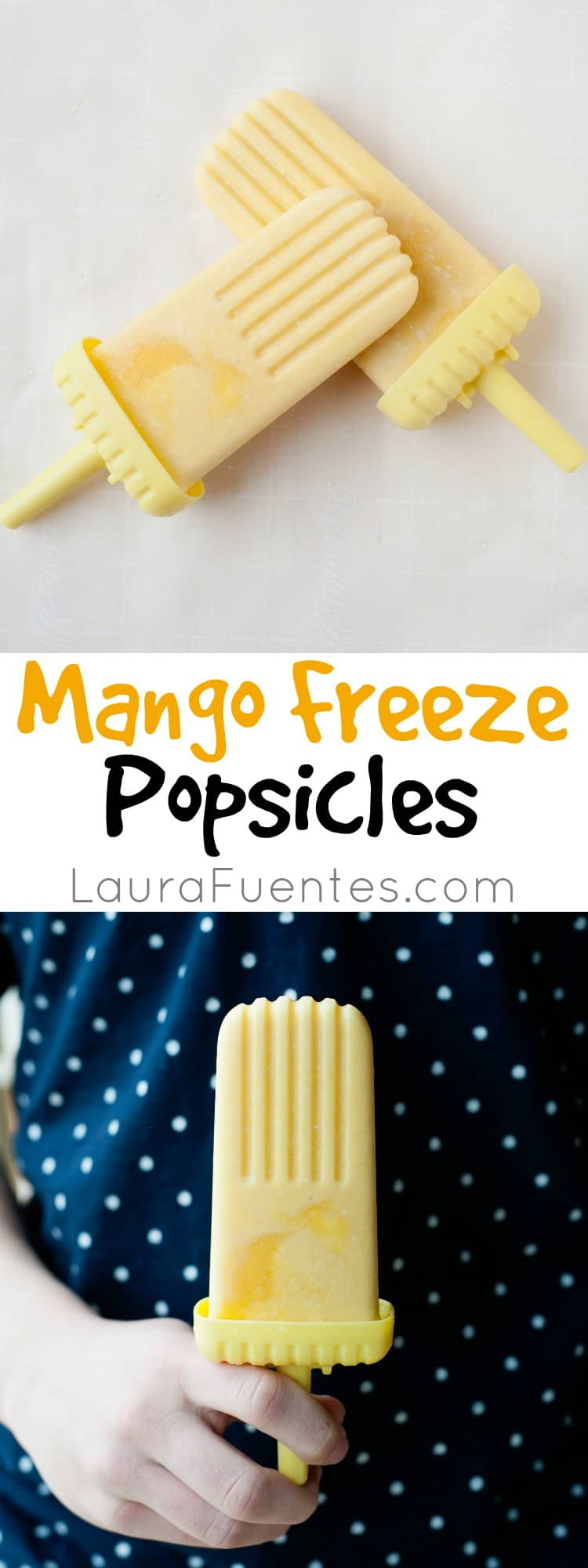 Mango Freeze Popsicles: Bring the flavors of the New Orleans Jazz Fest to your kids snack time with this easy recipe!