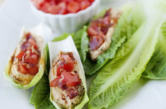 Bacon, Lettuce, and Tomato Hummus Cups