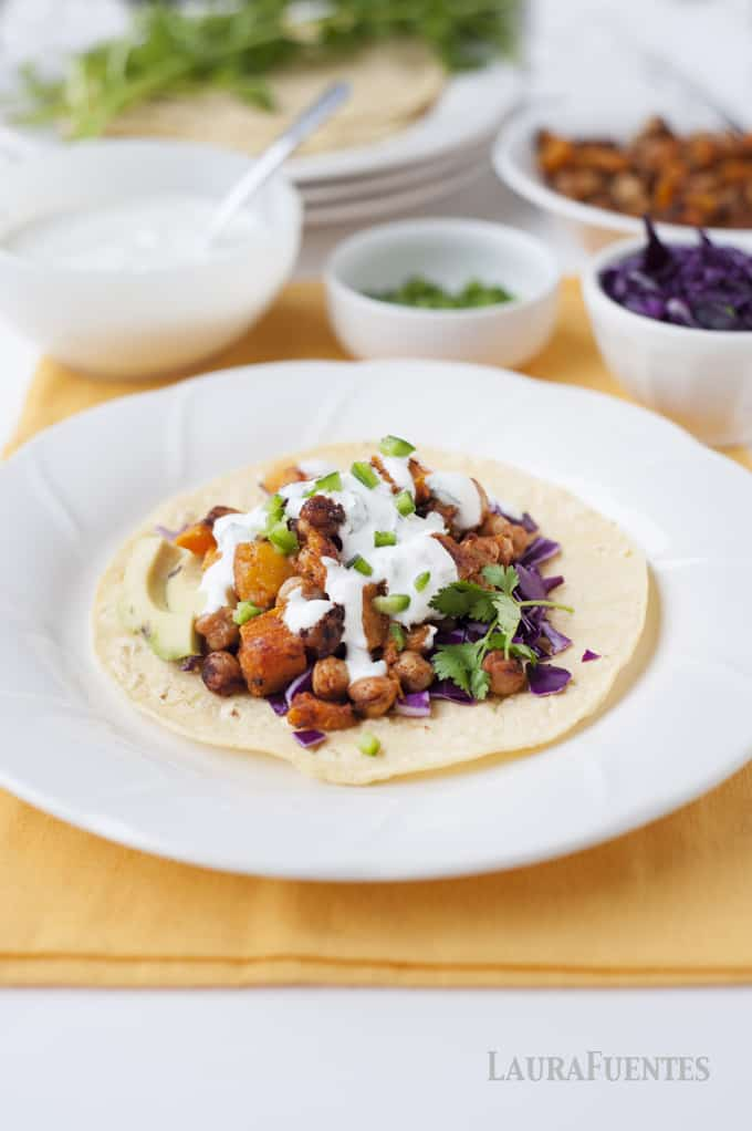 Butternut Squash and Chickpea Tacos