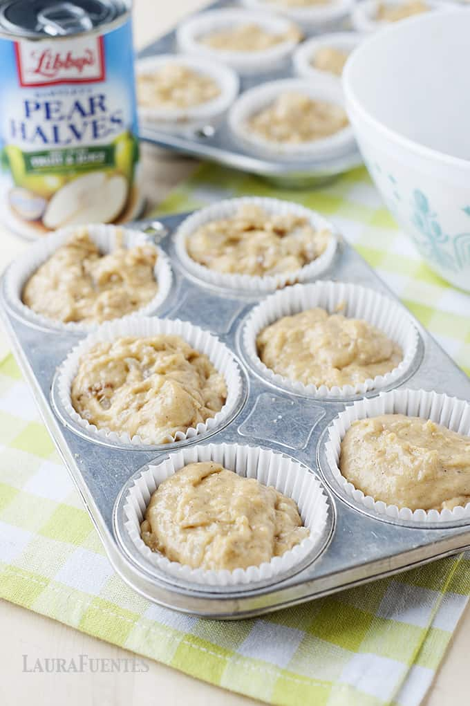 Moist and delicious these pear crumble muffins are a must make!