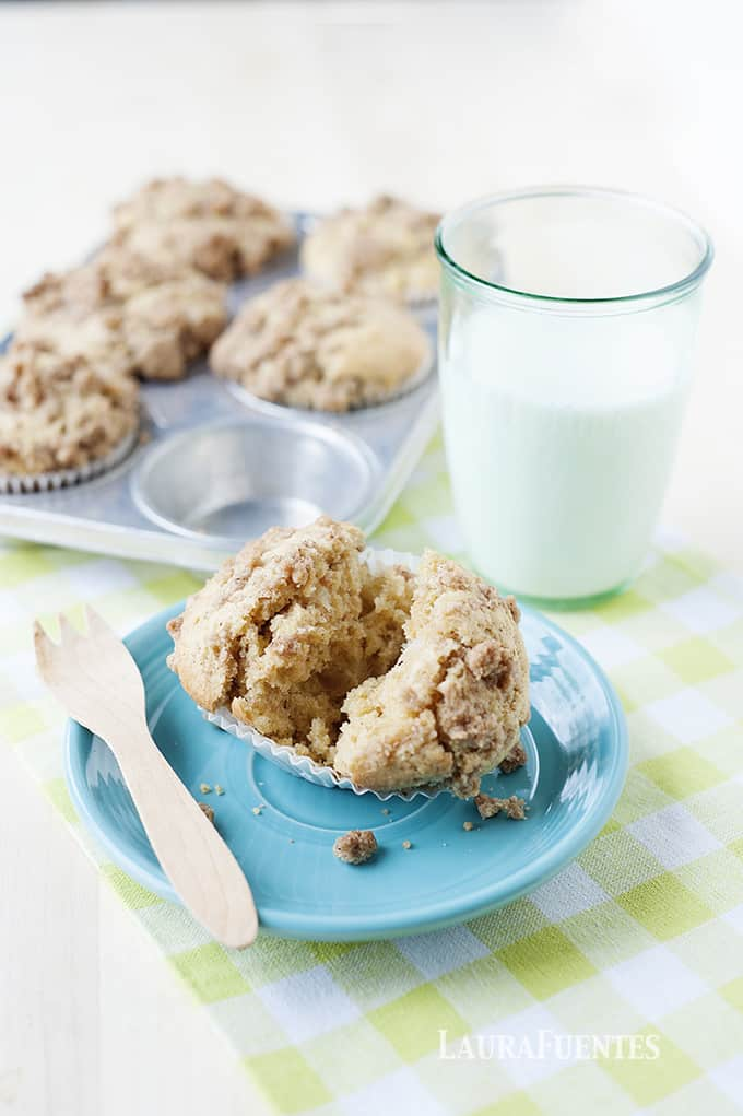 Crumbly and delicious these moist pear crumble muffins are definitely a must make!