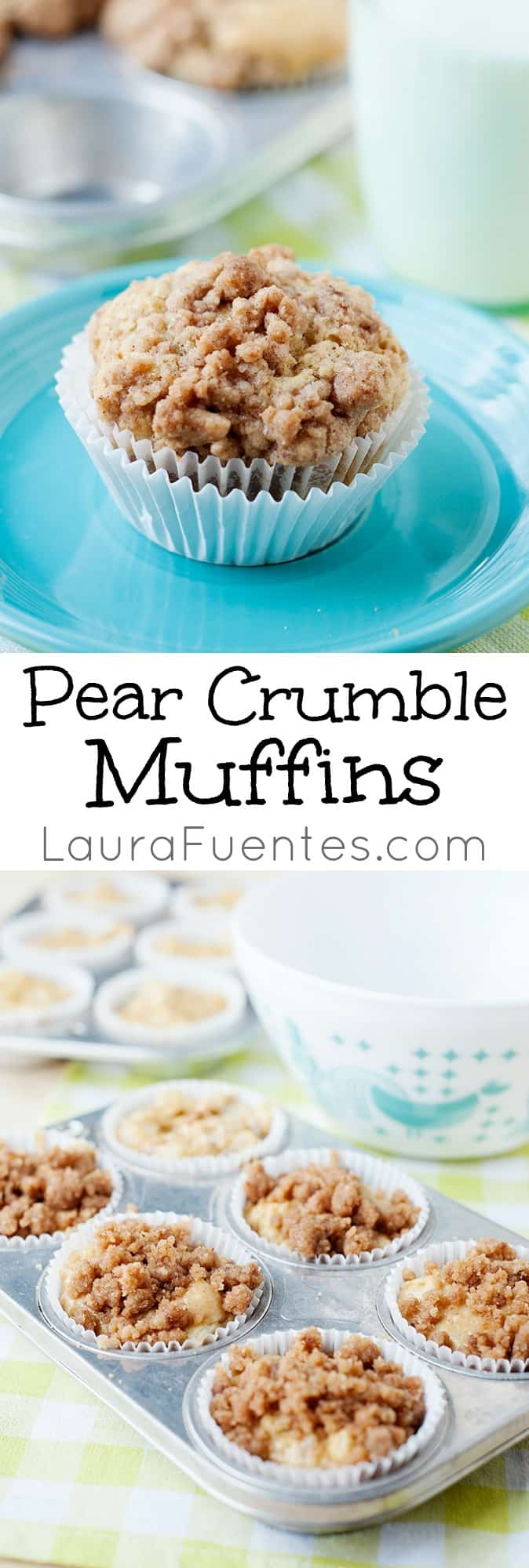 Crumbly and delicious, these moist Pear Crumble Muffins are definitely a must make!