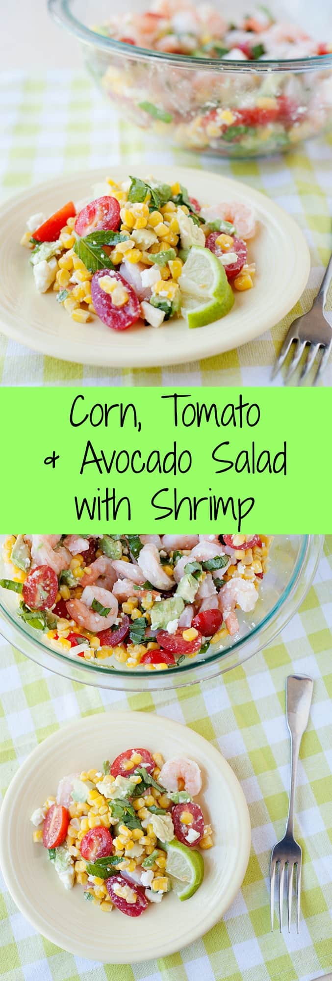This Simple Corn Tomatoes Avocado And Shrimp Salad Is Easy To Make And Summer