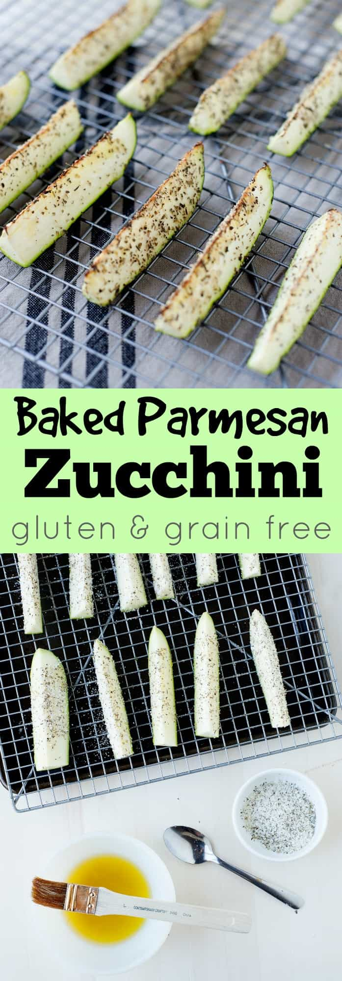 Baked Parmesan Zucchini Sticks: The perfect appetizer or side for your backyard bbq or family meal.